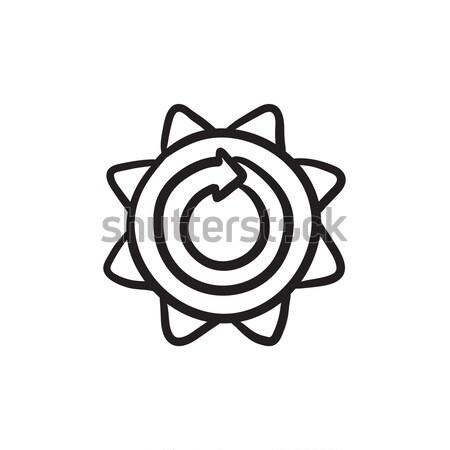 Hernieuwbare energie lijn icon vector geïsoleerd witte Stockfoto © RAStudio