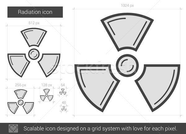 Promieniowanie line ikona wektora odizolowany biały Zdjęcia stock © RAStudio