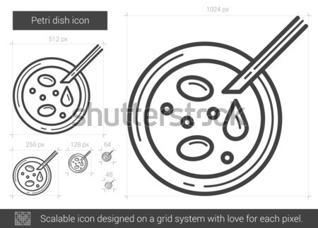 Stock photo: Petri dish line icon.