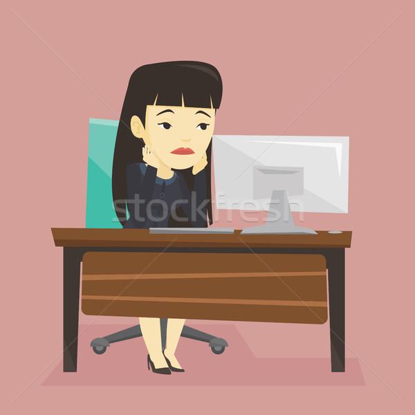 исчерпанный печально сотрудник рабочих служба скучно Сток-фото © RAStudio