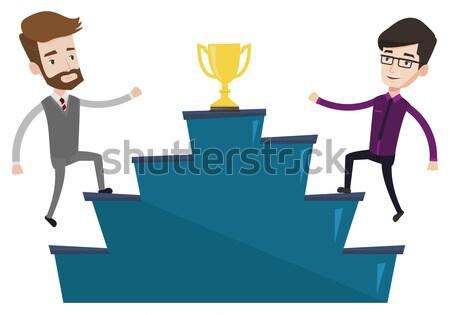 Businessmen competing for the business award. Stock photo © RAStudio