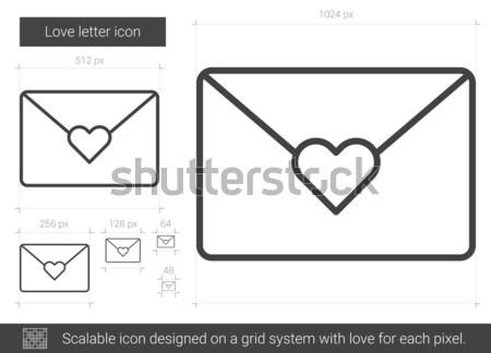 Love letter line icon. Stock photo © RAStudio