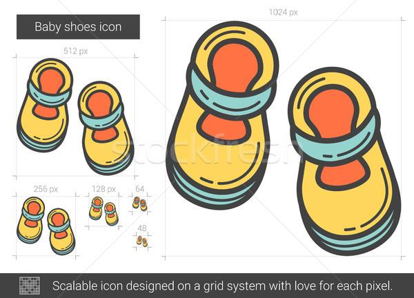 Baby shoes line icon. Stock photo © RAStudio