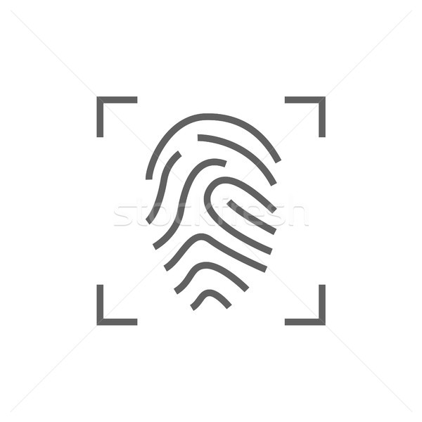 Fingerprint scanning line icon. Stock photo © RAStudio