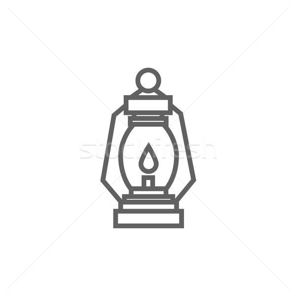 Camping lantern line icon. Stock photo © RAStudio