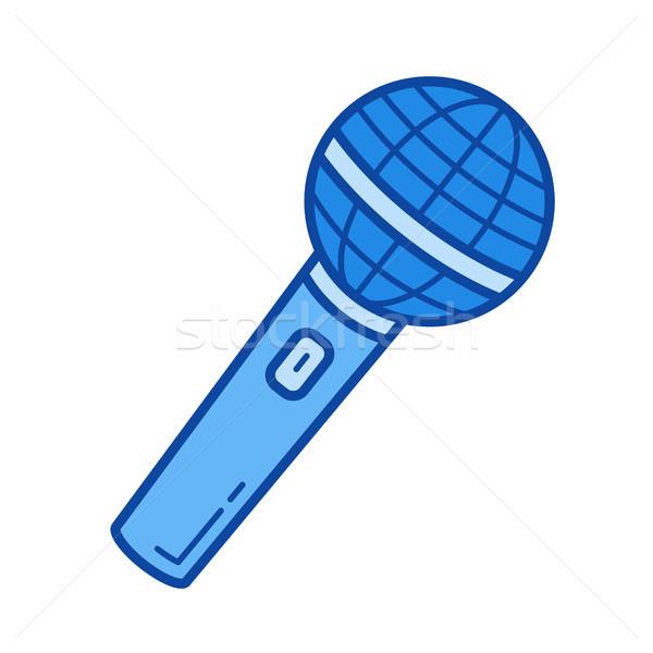 ラジオ マイク 行 アイコン ベクトル 孤立した ストックフォト © RAStudio