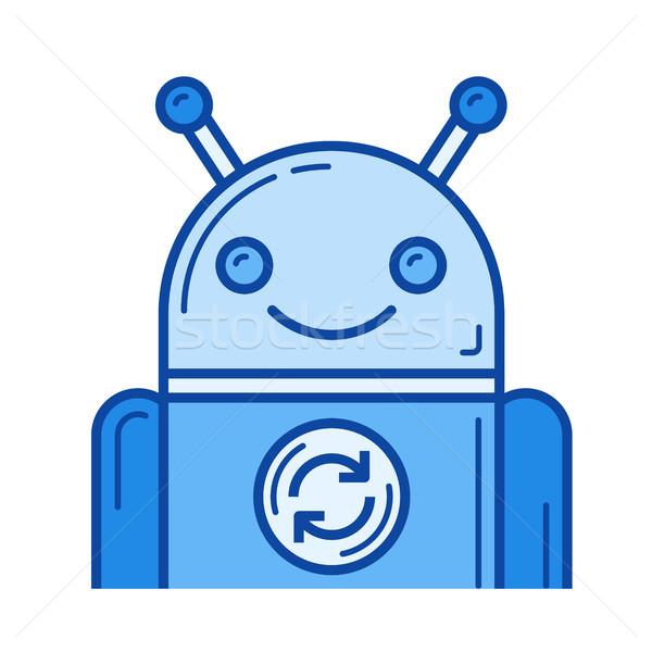 App bijwerken lijn icon vector geïsoleerd Stockfoto © RAStudio