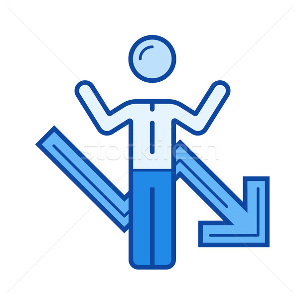 Business failure line icon. Stock photo © RAStudio