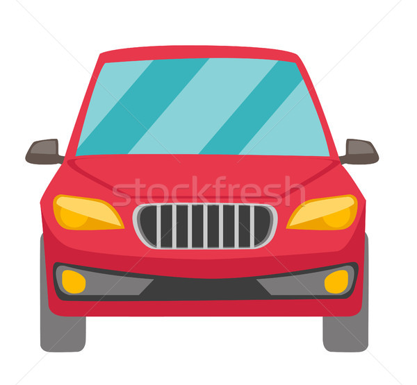 Stock photo: Red car vector cartoon illustration.