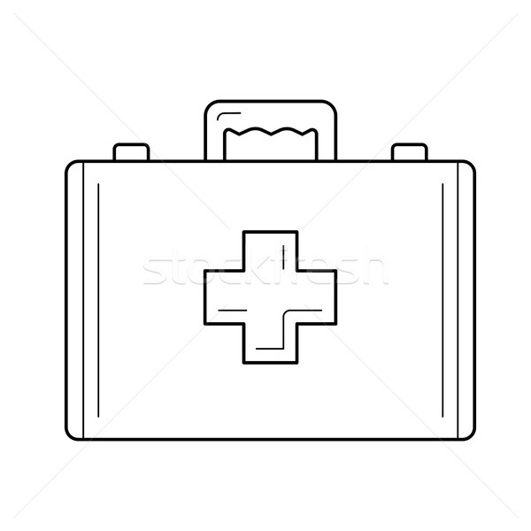 Primeros auxilios línea icono vector aislado Foto stock © RAStudio