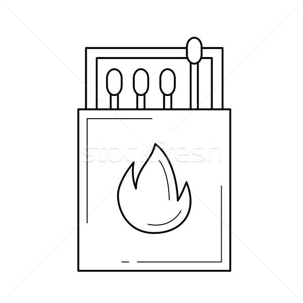 Partidos vector línea icono aislado blanco Foto stock © RAStudio