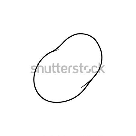сладкий картофель рисованной эскиз икона болван Сток-фото © RAStudio