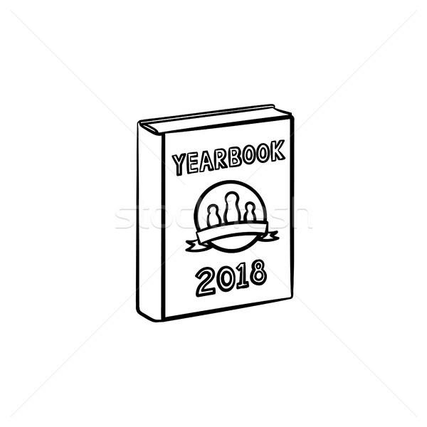 évkönyv kézzel rajzolt rajz ikon skicc firka Stock fotó © RAStudio