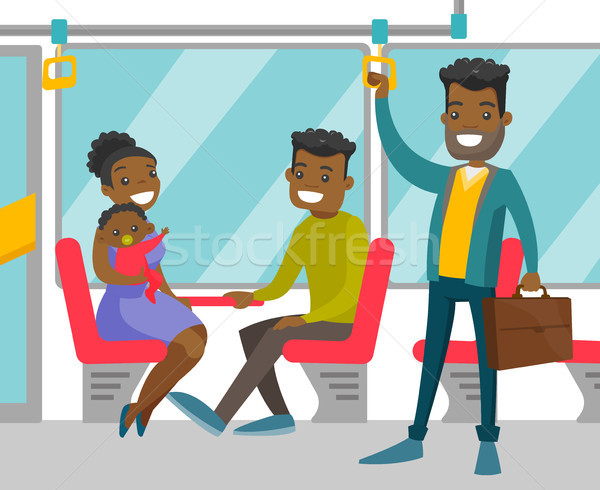 Black people traveling by public transport. Stock photo © RAStudio