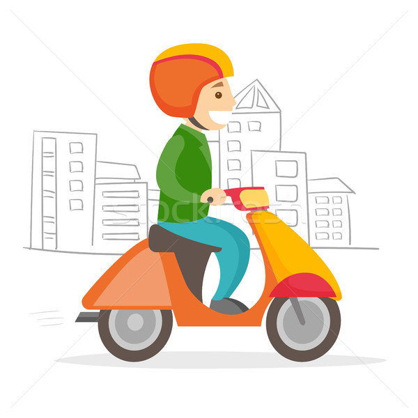 A man driving motorcycle. Stock photo © RAStudio