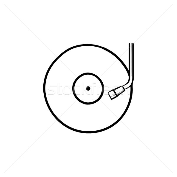Phonograph and turntable hand drawn outline doodle icon. Stock photo © RAStudio