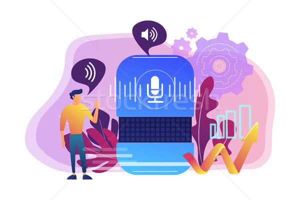 Voice control concept vector illustration. Stock photo © RAStudio