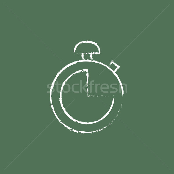 Stopwatch icon drawn in chalk. Stock photo © RAStudio