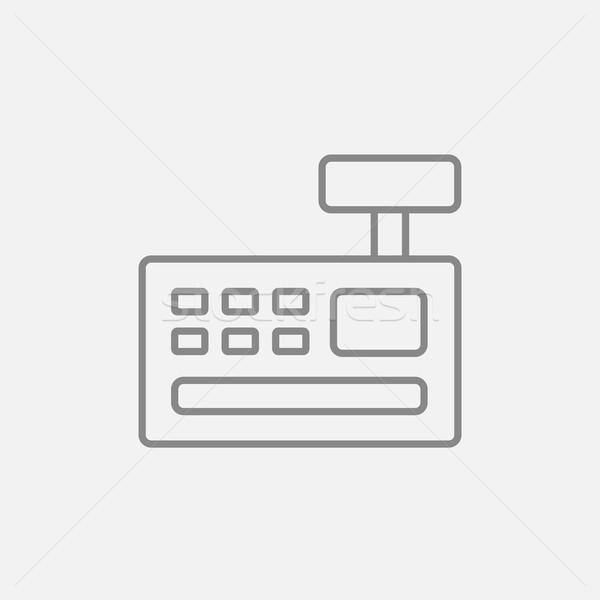 レジ マシン 行 アイコン ウェブ 携帯 ストックフォト © RAStudio