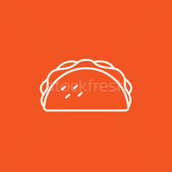 Taco line icon. Stock photo © RAStudio