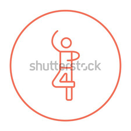 Maschio figura skater line icona web Foto d'archivio © RAStudio