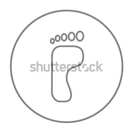 Lábnyom vonal ikon háló mobil infografika Stock fotó © RAStudio
