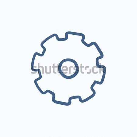 Gear line icon. Stock photo © RAStudio