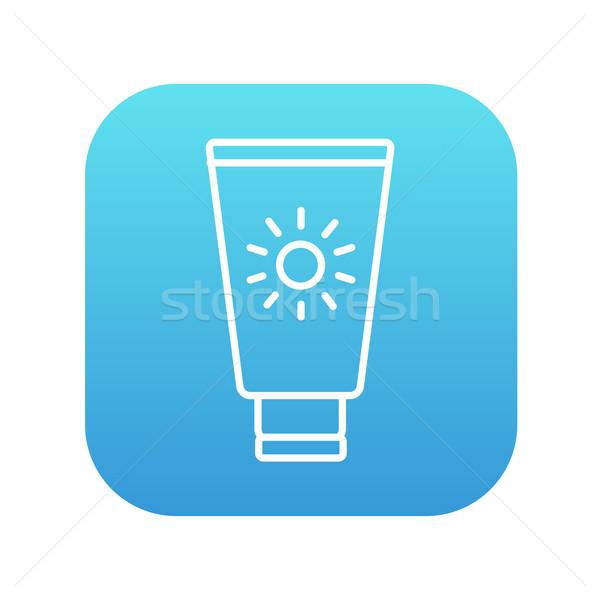 Солнцезащитный крем линия икона веб мобильных Инфографика Сток-фото © RAStudio