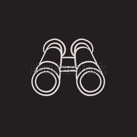 Binocular line icon. Stock photo © RAStudio