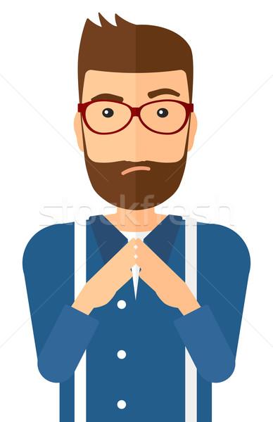 Envious man in glasses. Stock photo © RAStudio