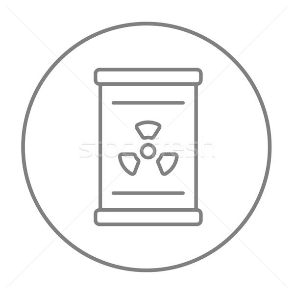 Barril radiação assinar linha ícone teia Foto stock © RAStudio