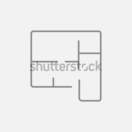 Layout of the house line icon. Stock photo © RAStudio