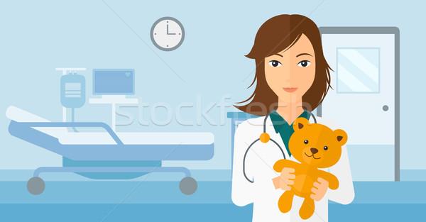 педиатр мишка больницу вектора дизайна Сток-фото © RAStudio
