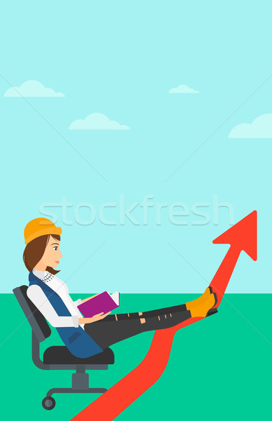 Business woman reading book. Stock photo © RAStudio