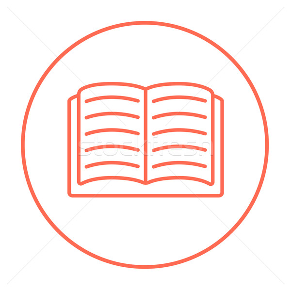 Open book line icon. Stock photo © RAStudio