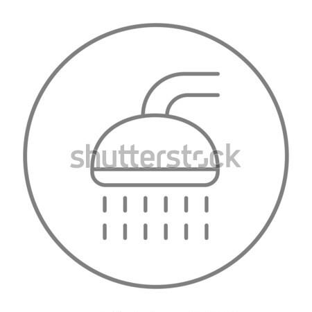 Shower line icon. Stock photo © RAStudio