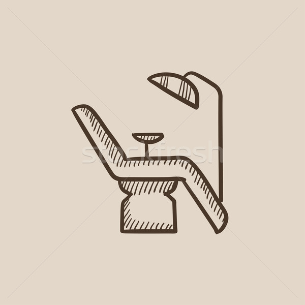 Dental chair sketch icon. Stock photo © RAStudio