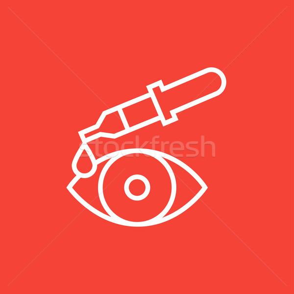 Pipette and eye line icon. Stock photo © RAStudio