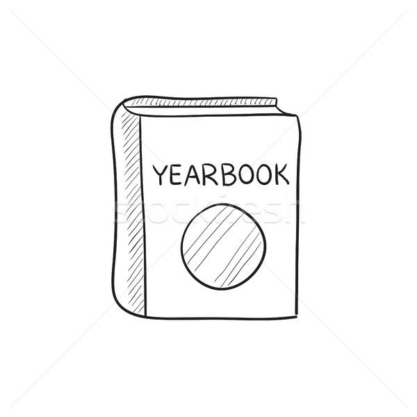 évkönyv rajz ikon vektor izolált kézzel rajzolt Stock fotó © RAStudio