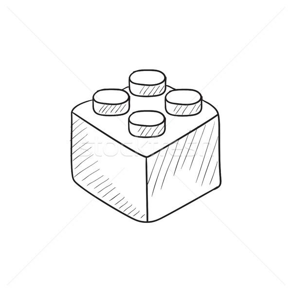 Building block sketch icon. Stock photo © RAStudio