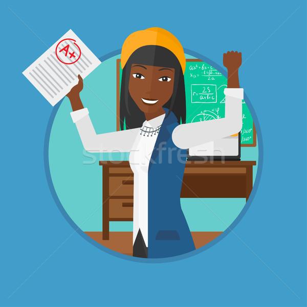 Zdjęcia stock: Student · test · papieru · najlepszy · wynikać