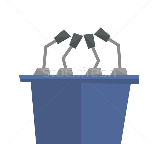 Seminar toespraak podium vector ontwerp illustratie Stockfoto © RAStudio