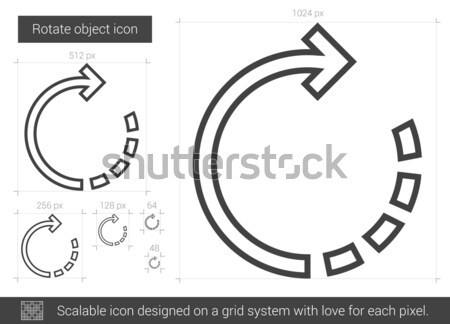 вращать объект линия икона вектора изолированный Сток-фото © RAStudio