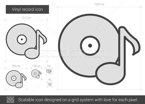 Vinyl record line icon. Stock photo © RAStudio