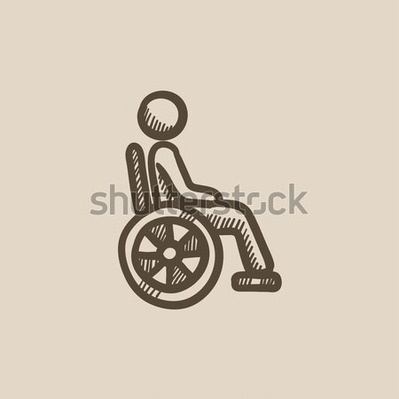 Disabled person sketch icon. Stock photo © RAStudio