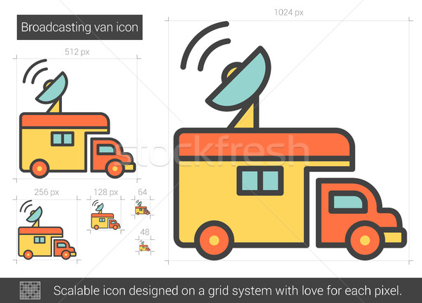 Omroep van lijn icon vector geïsoleerd Stockfoto © RAStudio