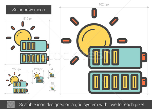 Solar power line icon. Stock photo © RAStudio