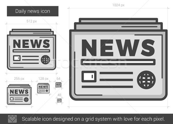 Daily news line icon. Stock photo © RAStudio