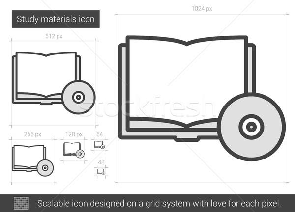 исследование линия икона вектора изолированный Сток-фото © RAStudio