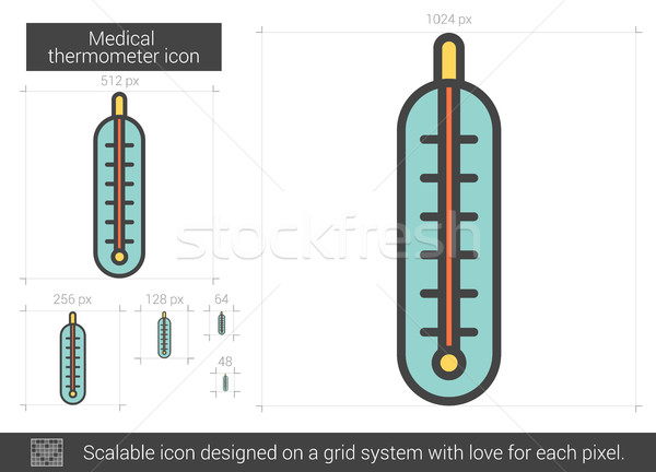 Medical thermometer line icon. Stock photo © RAStudio